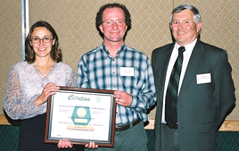2002 Kim Bittman and Kevin Sharman - Citation for outstanding reclamation