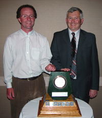 Kevin Sharman with the Jake McDonald BC Mine Reclamation Award