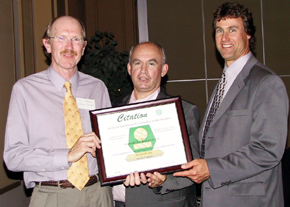2005 Tom Gibson and Ray Collier Citation for Quarry Reclamation