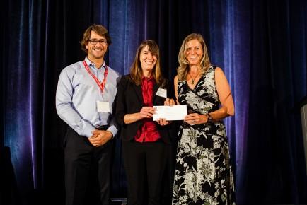 Scholarship Winner Sara Sparks (L-R Ryan Todd, Sara, Wendy Gardner)